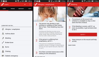 First Aid Apps on the Go