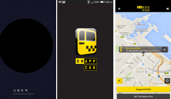 Uber and Snappcab Taxi Apps for Use in Cape Town South Africa